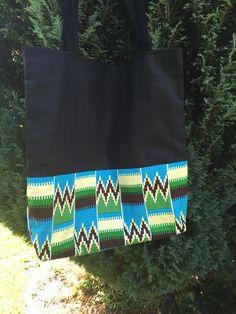 Stof taske med Kente bomuldsprint fra Ghana  #handmade