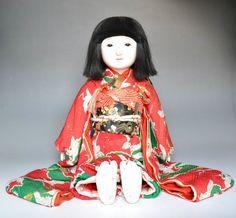 Japanese antique ICHIMATSU NINGYO Girl gofun Doll craftman BAIGETU 20inch 112601 | eBay