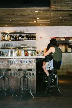 ~ Craft & Commerce in San Diego, CA #cafe #interior #design #rustic #counter #bar