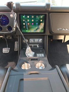 Here's an interesting interior concept - custom center console with built in iPad 67 72 Chevy Truck, Classic Chevy Trucks, Chevy C10, Chevy Pickups, Lowered Trucks, Gm Trucks, Cool Trucks, Pickup Trucks, Custom Car Interior