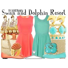 """""""Swan and Dolphin Resort"""" by leslieakay on Polyvore"""