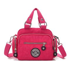 4937153bdd91 Tiny Chou Mini Solid Color Water Resistant Nylon Handbag Cross Body  Shoulder Bag for Women