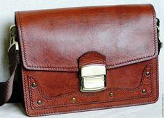 Купить Сумочка мужская из натуральной кожи - барсетка, сумочка через плечо, сумочка мужская