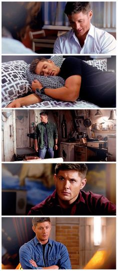 [gifset] Dean and his various colored shirts of Season 8 :) #SPN #Dean