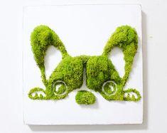 French Bulldog Moss Art, Wall Decor, Vertical Garden, Terrarium, Holiday Gift, Moss Frame