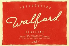 Walford Dual Font by senzana on @creativemarket
