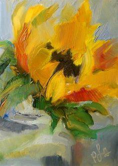 """Sunflower No. 51"" - Original Fine Art for Sale - © Trisha Lyons Ansert"