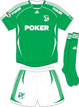 Deportivo Cali of Colombia home kit for 2007.