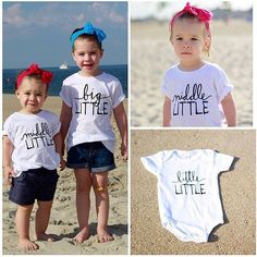 Little Faces Apparel sibling tees - Baby / pregnancy announcement @jennmauro Big sister tees, big brother shirt.