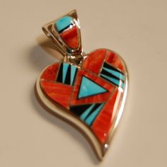 Calvin Begay Earrings Turquoise Navajo and Jasper