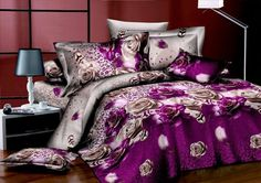 3D Purple Rose Comforter Set | Purple Roses Bedding 3D Duvet Cover Set | 3d bedding | Pinterest