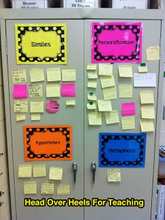 Head Over Heels For Teaching: Interactive figurative language bulletin board.