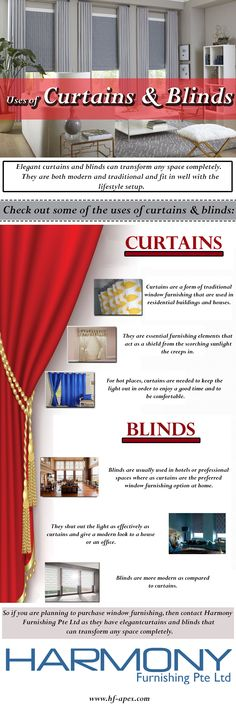 Elegant curtains and blinds can transform any space completely. They are both modern and traditional and fit in well with the lifestyle setup. Read the blog to know about the uses of curtains and blinds.