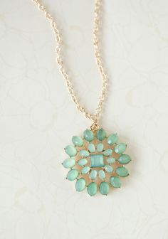 Green Carnation Necklace,