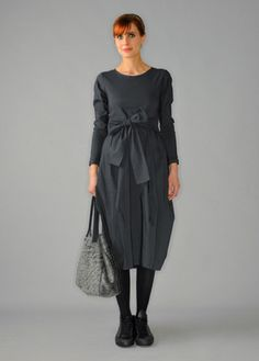 LUNN by Lilith--a beautifully tailored French line with exquisite details and fabrics.  This could be the most perfect black dress EVER.