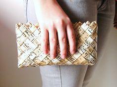 Vintage paper- candy wrapper purse