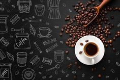 Download Coffee Cup Made Of Coffee Icons for free - Coffee Icon - Ideas of Coffee Icon #coffeeicon #coffee - Coffee cup made of coffee icons | Free Vector