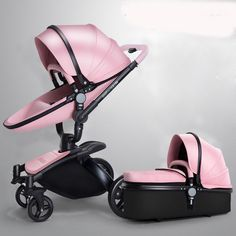 Luxury Baby stroller 3 in 1 leather Carriage Infant Travel System Foldable Pram | Baby, Strollers & Accessories, Strollers | eBay!