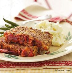 Gooseberry Patch Cheesy Beef & Bacon Burger Meatloaf Recipe