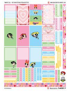 Free Printable Powerpuff Girls Planner Stickers from Organized Potato