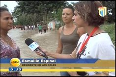 Amelia Deschamps Presenta el Reportaje Sobre La Actitud de Los Damnificados Ante Las Inundaciones