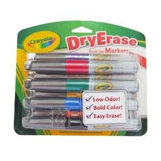 Amazon.com : Crayola 8 Count Dry Erase Broad Line Chisel Tip Markers : Office Products