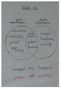 Oefen de woordenschat woorden die jouw klas deze week moet leren eens op een andere manier in. Bijvoorbeeld door middel van een Venndiagram.