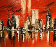 New+York+peinture+acrylique,+agglomération+de+EmyPaint\'+sur+DaWanda ...