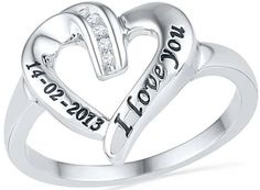 Diamond accent heart promise ring