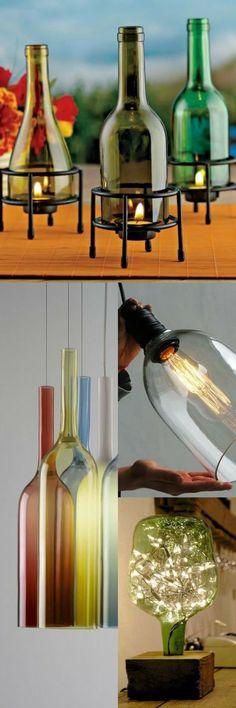 Aprende cómo hacer lamparas decorativas con botellas de licor