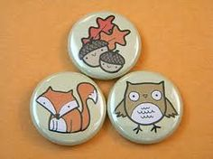 woodland creatures buttons