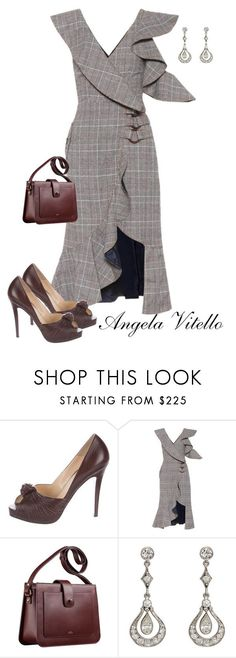 """Untitled #1001"" by angela-vitello on Polyvore featuring Christian Louboutin, self-portrait and A.P.C."