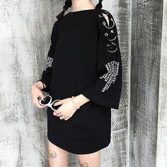 Harajuku Woman s Fashion Print Ring T-shirt Girl Loose Short Sleeve Dress 26ba0d67d6