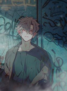 Image in Anime collection by ShoDii on We Heart It Dark Anime Guys, Cool Anime Guys, Handsome Anime Guys, Hot Anime Boy, Anime Boys, Brown Hair Anime Boy, Manga Art, Manga Anime, Anime Art