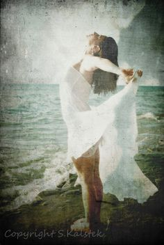 Mermaid Inspired Photography Woman by Sea by KalstekPhotography, $33.00
