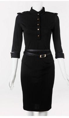 Free Shipping !2013 Autumn  Winter new fashion Vintage Fashion Brand Victoria Dress, sexy club dresses+Belt,Plus Size :S -2XL $28.86