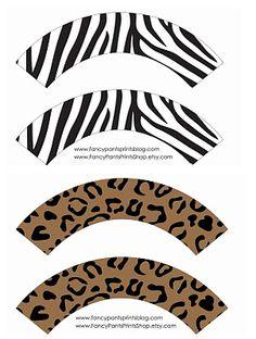 Free Printable Cupcake Wrappers | animal