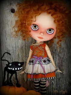 Impossible to keep Dinky cat off the photos this month!  Autumn and dress by me (Petite Apple)  Cat by Dinky Darlings