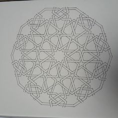 First completed pattern from Fes! Geometry Pattern, Geometry Art, Mandala Pattern, Mandala Art, Sacred Geometry, Pattern Art, Geometric Designs, Geometric Shapes, Ornament Drawing