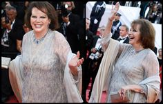 Best Garments at Cannes Fashion Film Festival 2017  RUNWAY MAGAZINE. Claudia Cardinale in Armani dress at gala of Festival de Cannes.