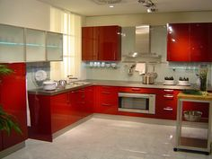 Moderna Kitchen Design Open, Open Kitchen, Kitchen Cabinet Design, Kitchen Cabinets, Kitchen Designs, Interior Design Kitchen, Stylish Kitchen, Kitchen Canisters, White Cabinets