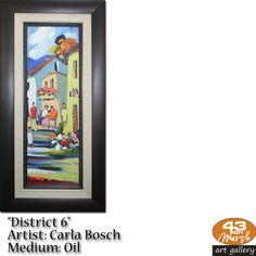 """""""District Oil on canvas by Carla Bosch Contact 43 on Marsh should you be interested in a work: 083 390 8000 Artist Painting, Oil Paintings, Oil On Canvas, Art Gallery, Frame, Art Museum, Painted Canvas, Fine Art Gallery, Frames"""