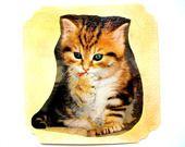 Carte postale et son enveloppe Chaton. : Cartes par matt-et-les-petits-cadeaux