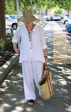 Keeping Cool in White Linen By A Well Styled Life #styletip #fashionover50#casualstyle #casualfashion #fashion#fashionoutfits #fashionstyle #over50#over50fashion #styleover40 #styletip#styleadvice