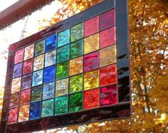 Stained Glass Rainbow triangle by ravenglassgirl on Etsy