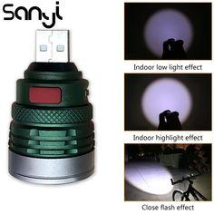 2X Mini Portable USB Power 3 SMD LED Night Light 1W Camping Lamp Torch White CA