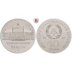 DDR, 10 Mark 1987, Schauspielhaus, st, J. 1616: 10 Mark 1987. Schauspielhaus. J. 1616; stempelfrisch 43,00€ #coins