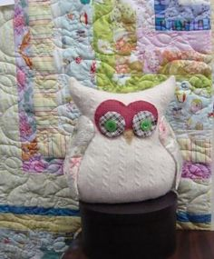 Grace, the sweater owl... made by Me!