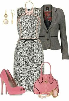 LOLO Moda: Classic dresses for women Diva Fashion, Work Fashion, Fashion Looks, Fashion Outfits, Womens Fashion, Dressy Outfits, Cute Outfits, Modelos Fashion, Outfit Combinations