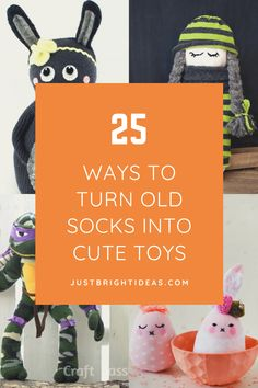 You remember making sock puppets as a kid right? Well now it's time to pass down the fun with these adorable sock plushies and toys you can make with your own children! Recycled Crafts Kids, Craft Projects For Kids, Diy Projects, Old Window Frames, Paper Towel Tubes, Sock Puppets, Cute Toys, Repurposed Furniture, Sustainable Living